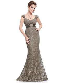Ever Pretty Damen Lang V-Ausschnitt Cocktailkleid Abendkleider 08838 ... 8ee0f87776