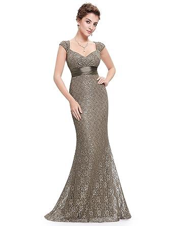 b0bfaa94a799 Ever-Pretty Womens Romantic Lace Floor Length Evening Dress 4 US Coffee