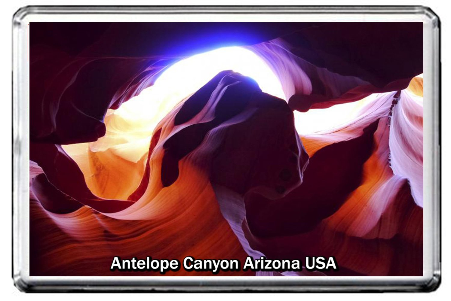 0211 ANTELOPE CANYON FRIDGE MAGNET USA LANDMARKS, USA ATTRACTIONS MAGNETICA CALAMITA FRIGO CFL