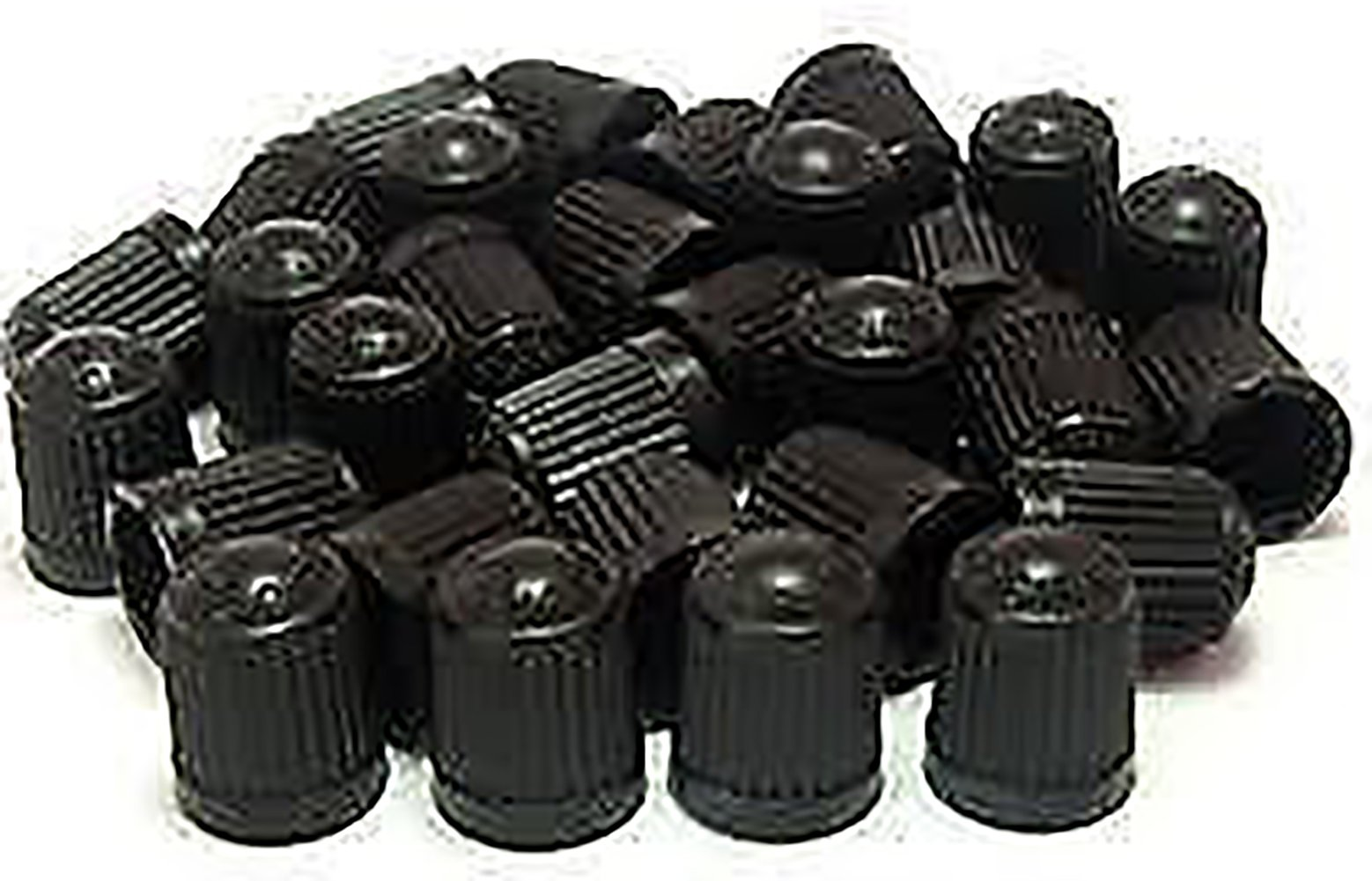 """(500 Count) Cool and Custom """"Classic Simple with Easy Grip Texture"""" Tire Wheel Rim Air Valve Stem Dust Cap Seal Made of Hardened Rubber {Sleek Dodge Black Color - Hard Plastic Internal Threads for Easy Application - Rust Proof - Fits For Most Cars, Tr"""