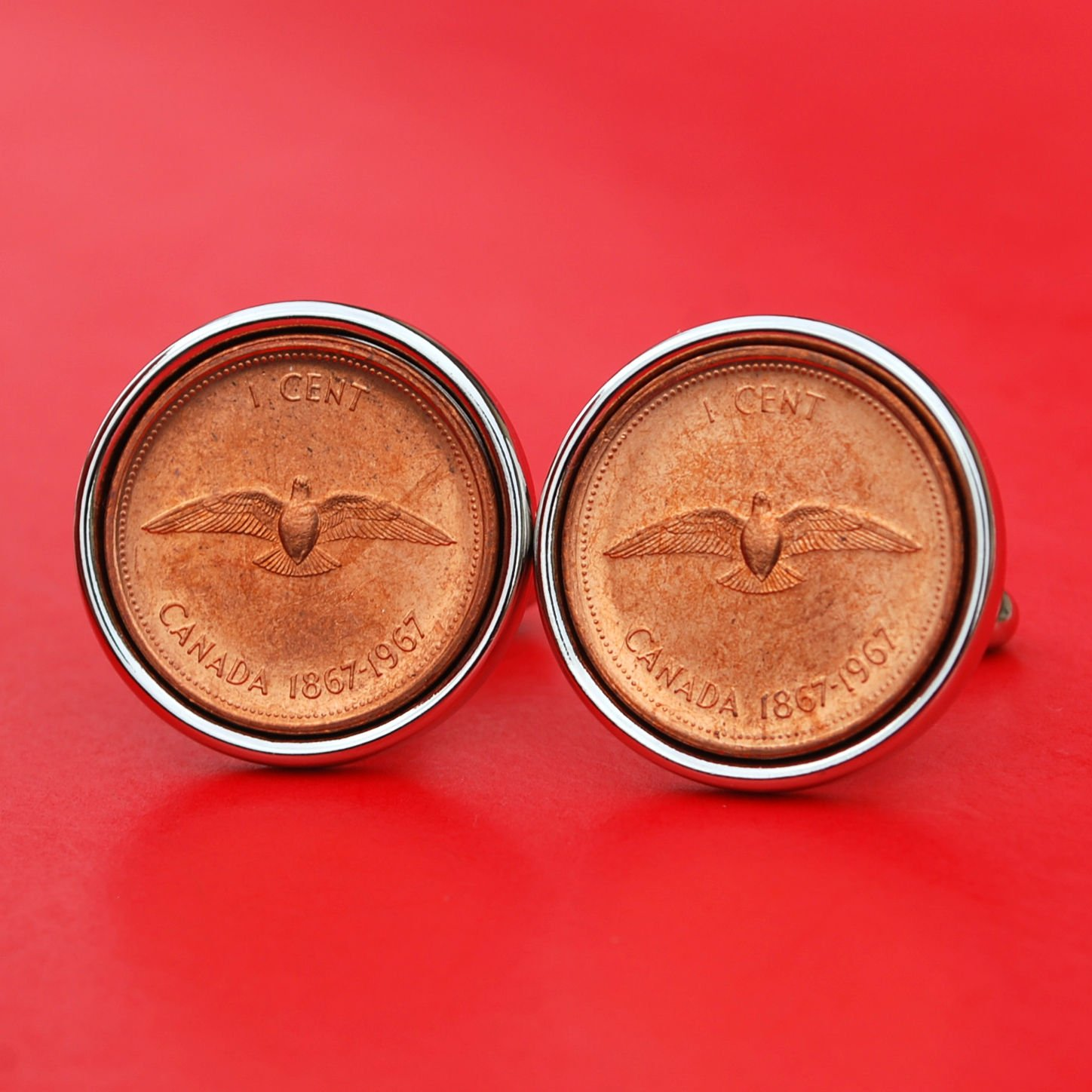 1967 CANADA Canadian Centennial DOVE one 1 cent penny copper GEM BU