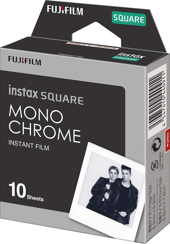 10 St/ück Instax Square Monochrom-Film