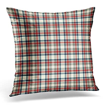 98c0fa406bf Amazon.com  TORASS Throw Pillow Cover Green Cream Red Navy Blue and ...