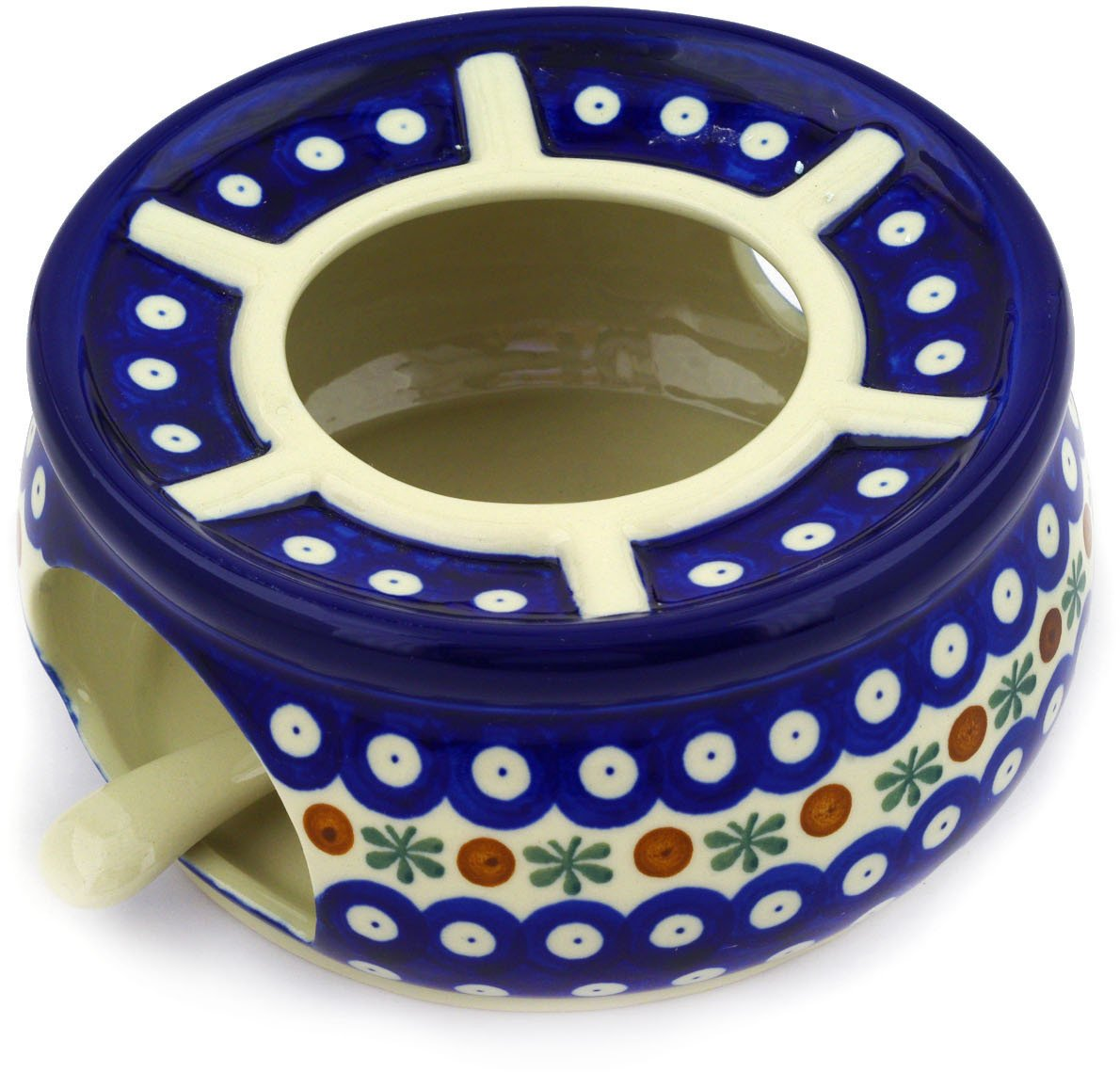 Polish Pottery Heater with Candle Holder 6-inch Mosquito