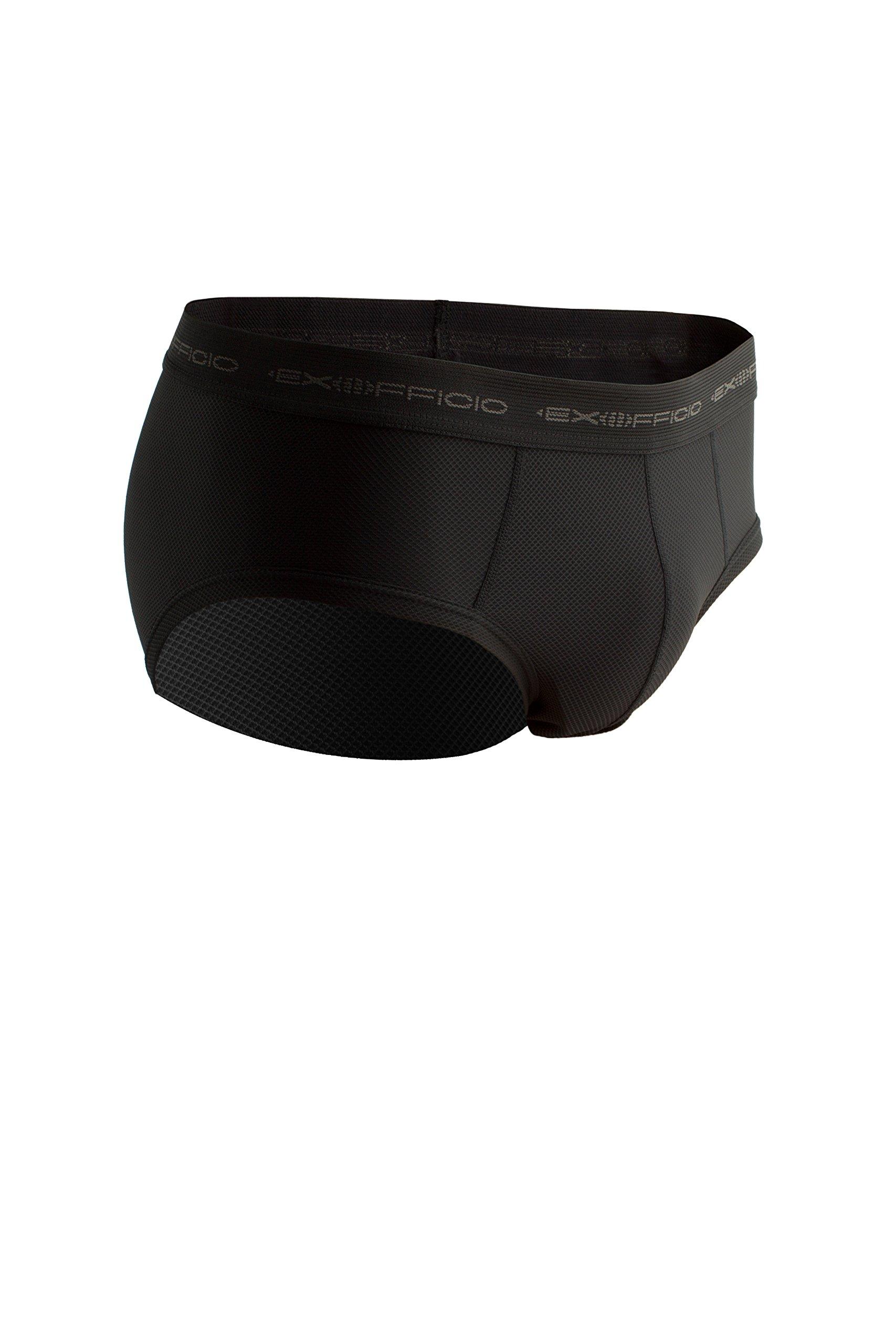 ExOfficio Men's Give-N-Go Flyless Brief, Black, Large