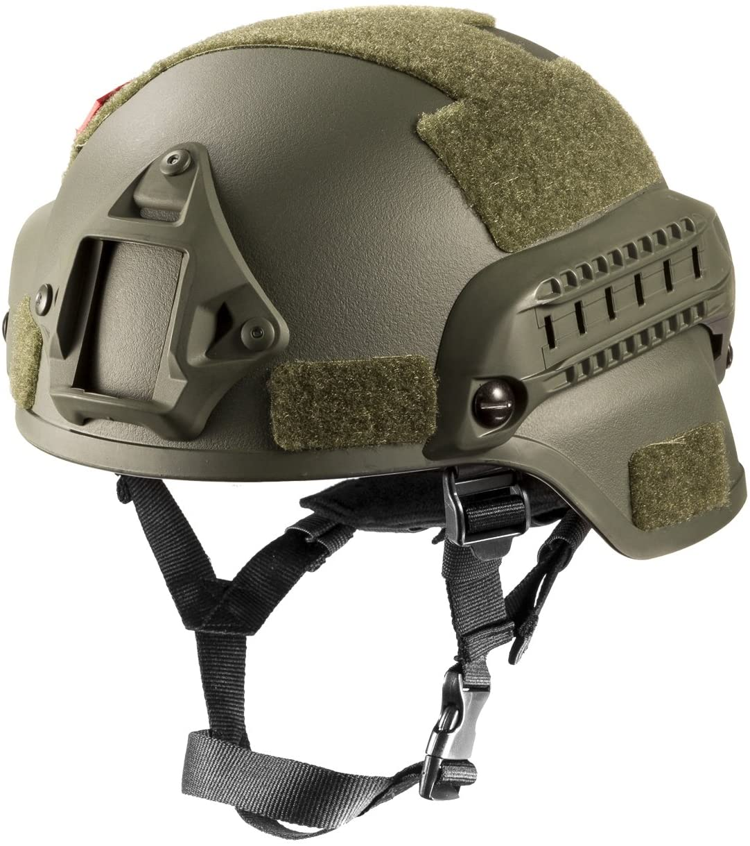 OneTigrisPhoto of the MICH 2000 Style ACH Tactical Helmet, with NVG Mount, in olive-green color.