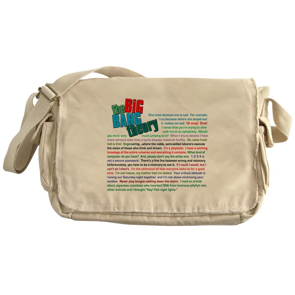 CafePress - The Big Bang Theory Quotes - Unique Messenger Bag, Canvas Courier Bag