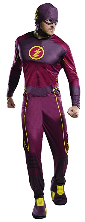 Rubies Mens Flash Tv Show Classic Costume, Standard, Chest 44