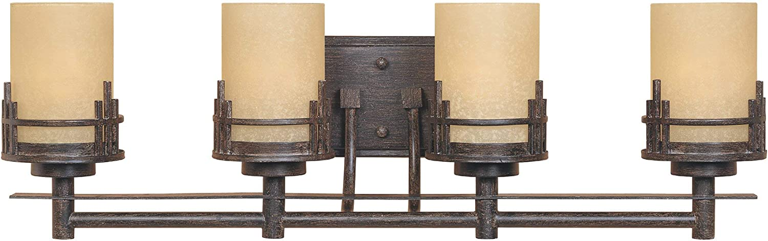 Designers Fountain 82104-WM Mission Ridge 4 Light Bath Bar
