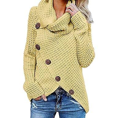 Logobeing Sudaderas Mujer Talla Grande Moda Tops Blusa Originales Suéter Camisetas de Manga Larga Mujer Chaqueta de Punto Outwear