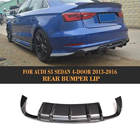Vehículo para Audi A3 S3 Sedán 2014 2015 2016 frontal trasera Trunk borde Alerón Difusor