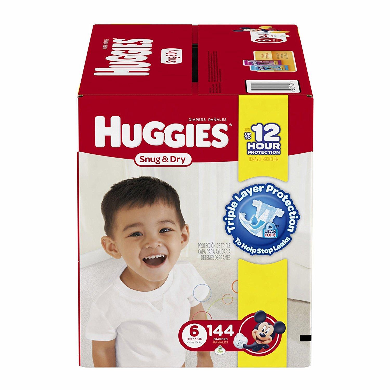 Amazon.com: Kimberly-Clark 43099 Huggies Snug & Dry Diaper, Step 6, Mc Plus  (Pack of 144): Industrial & Scientific