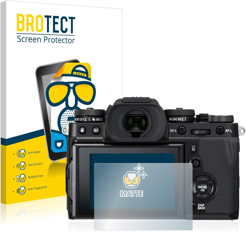 2 Unidades BROTECT Protector Pantalla Anti-Reflejos Compatible con FujiFilm X-T3 Pelicula Mate Anti-Huellas