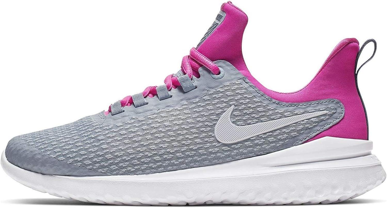 Nike Women's Renew Rival Running Shoe Obsidian Mist White Laser Fuchsia Size 7.5 M US