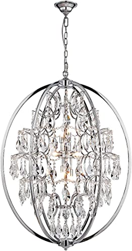 ANJIADENGSHI Modern Globe Crystal Chandeliers 9-Light Chandelier Lighting Crystal