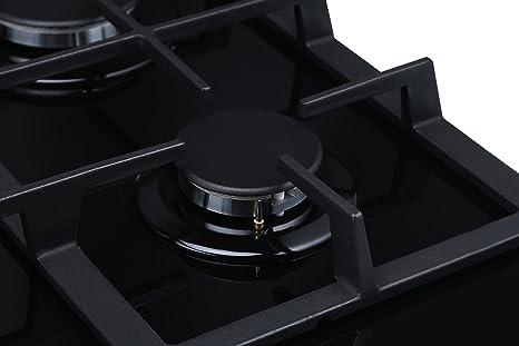 Millar GH7051TB - Placa de cocción de cristal templado con 5 ...