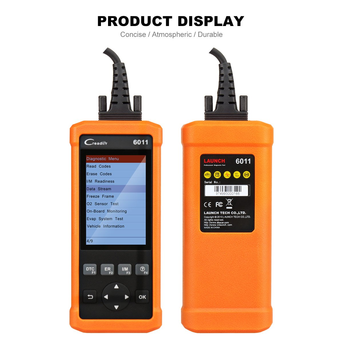 Launch CReader 6011 OBD2 EOBD Scan Tool Professional Auto ABS SRS Diagnostic Scan Tool Universal OBD2 Scanner Car Engine Fault Code Reader for OBDII Standard Vehicle by Launch (Image #3)