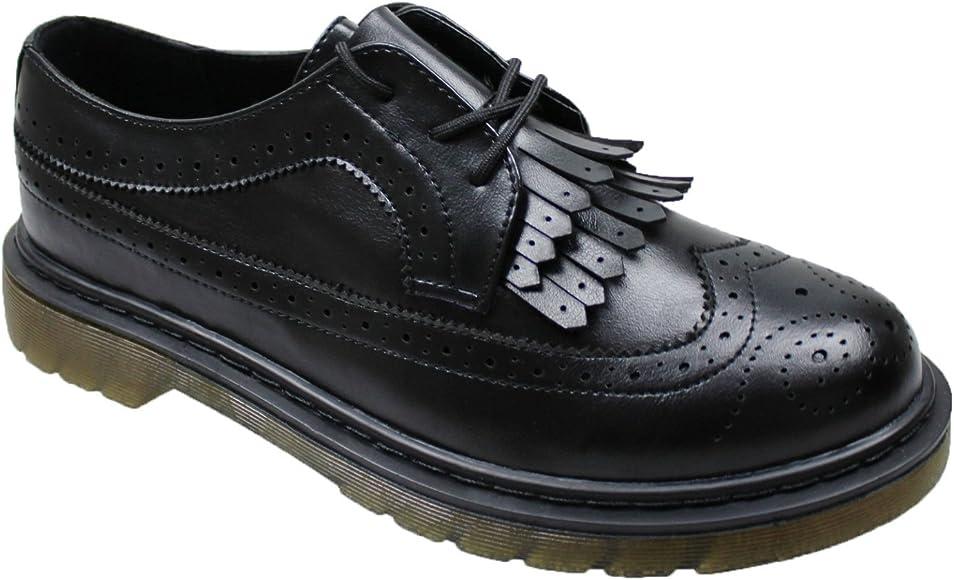 Zapatos Oxford de Hombre, Negro, con Flecos, Deportivos, informales, en caja negro 43: Amazon.es: Ropa y accesorios
