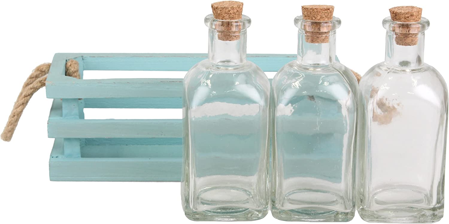 Stonebriar Light Blue Botle with Tray Set