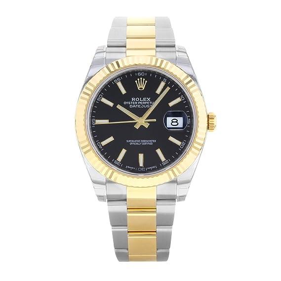 462d3fe6de16f Rolex Datejust acciaio INOX 41 & 18 K giallo oro ostrica orologio quadrante  nero 126333