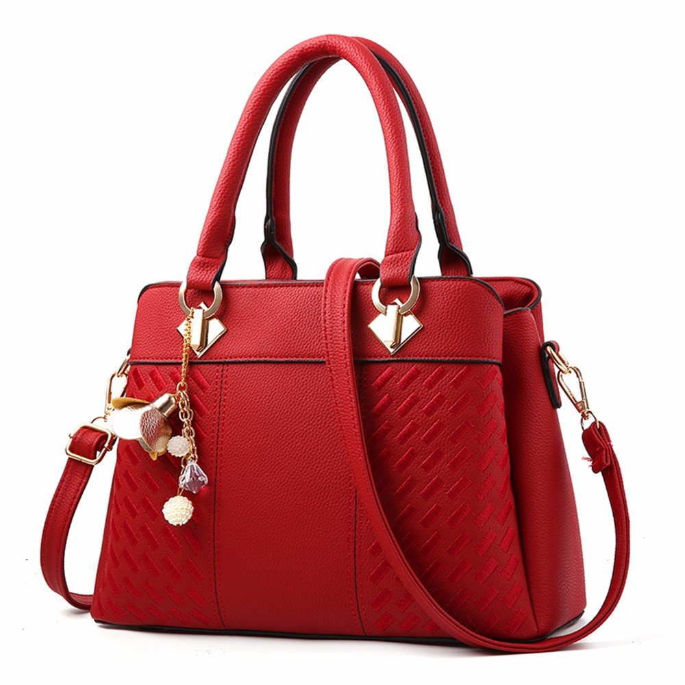 Hombro Vintage Casual para Mujer Pequeño Clutch Wristlet Hombro Cross-Body Bags con Muchos Bolsillos Soft PU Leather Shoulder Large Capacity