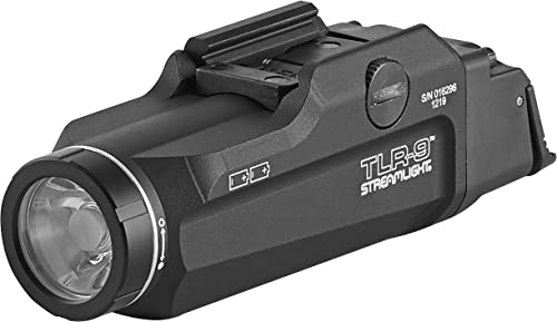 STREAMLIGHT 69464 TLR 9 Flex Low-Profile Rail-Mounted Tactical Light with Two Lithium Batteries, Black