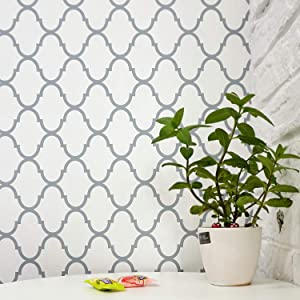 "Trellis Removable Wallpaper Trellis Wall Paper Trellis Peel and Stick Wallpaper Self Adhesive Wall Covering Modern Wallpaper Decor Shelf Liner Drawer Liner Wall Decor Vinyl Film Roll 17.7""x78.7"""
