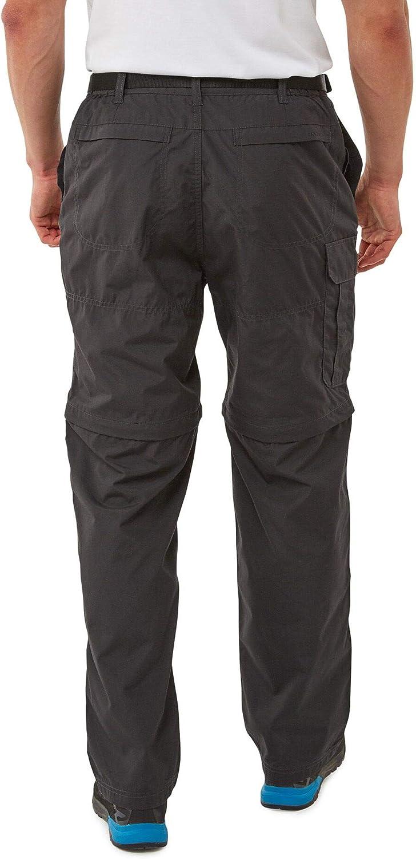 Craghoppers Uomini Kiwi Convertibile Zip Off Escursionismo Pantaloni CMJ107