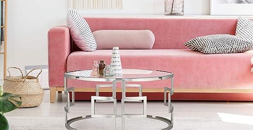 Mesa redonda, mesas de centro, mesa comedor cristal, mesas de ...