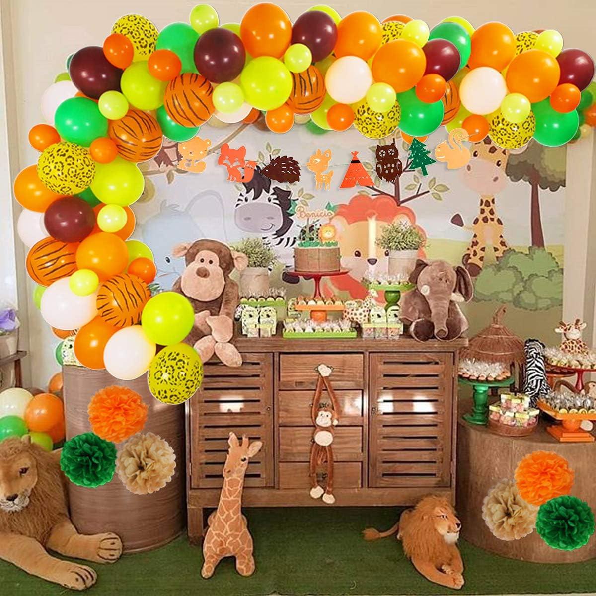 20 amarillo y naranja Globos Fiesta de Cumpleaños de Niños Selva Animal León Pascua