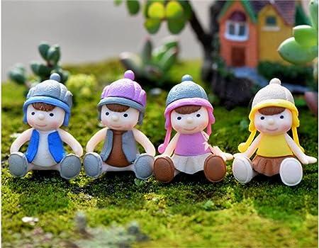 Huertuer Decoración de Hadas del jardín 1 PC Miniatura Lindo muñeco de Hadas jardín Micro Ornamentos Paisaje decoración del hogar (Color Aleatorio) Ornamento del Paisaje: Amazon.es: Hogar