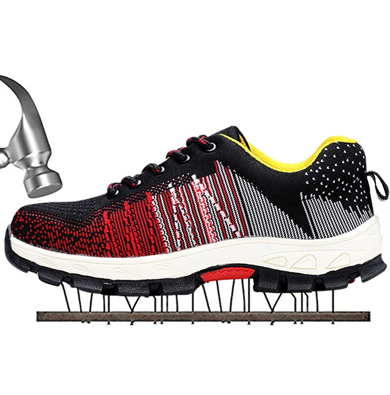 SUADEX Homme 02-rouge Femme Chaussure de Sécurité Chaussure Chaussure de Travail Chaussures Baskets Chaussures de Randonnée 02-rouge acbc443 - fast-weightloss-diet.space