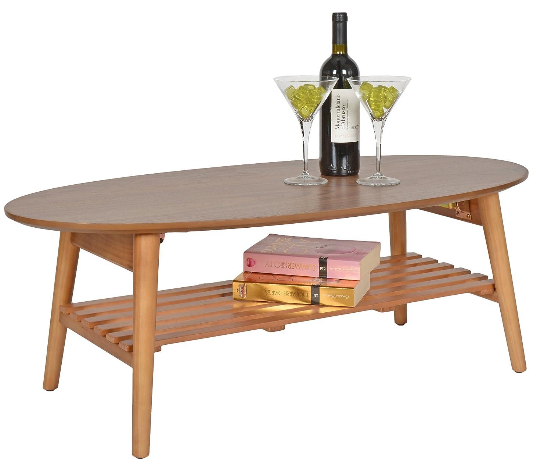Ts Ideen Design Wohnzimmer Tisch Beistelltisch Kaffeetisch Anrichte  Couchtisch Japanischer Stil Oval 100 X 50 Cm: Amazon.de: Küche U0026 Haushalt