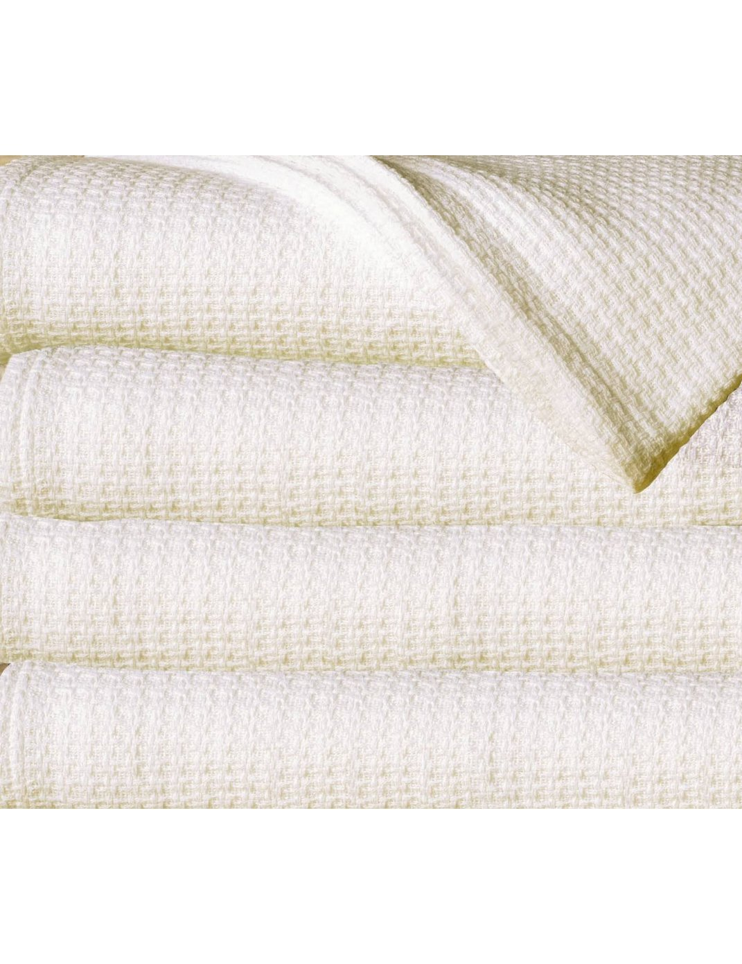 100% Cotton Thermal Blanket, IVORY, Twin/Full