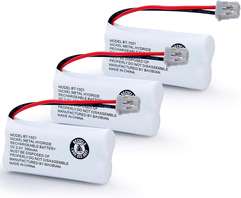 BT-1021 BT-1016 BT-1008 BT-1025 Handset Cordless Telephone Battery BAOBIAN BBTG0847001 BBTG0798001 Compatible with for Uniden BT1021 BT1008 BT1016 BT1025 Empire CPH-515B Phone (3 Pack)