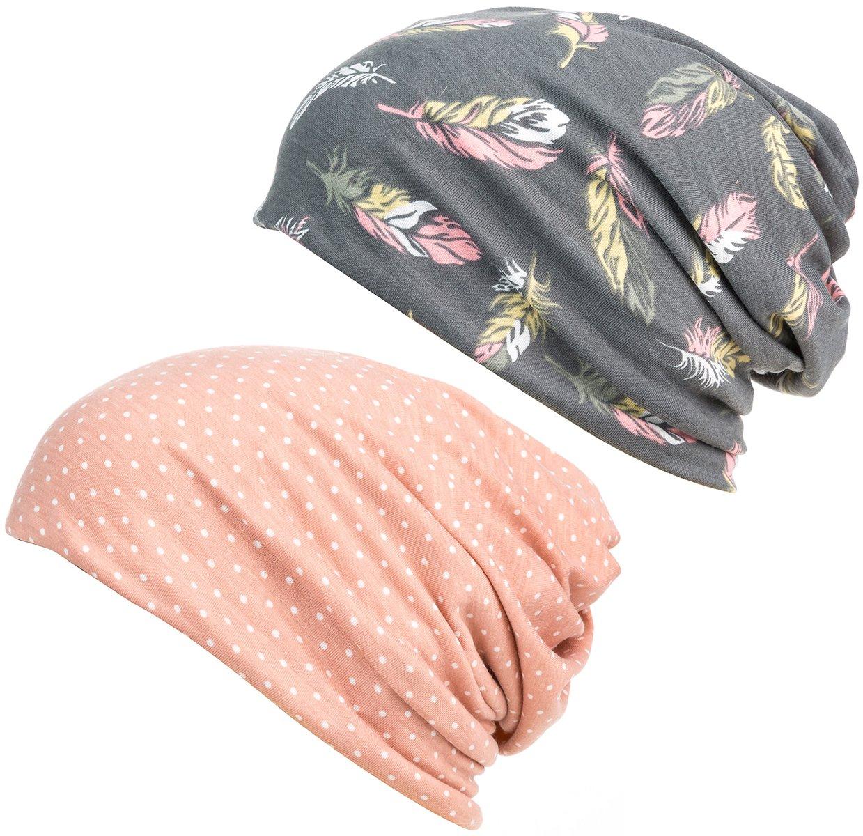 DancMolly Print Flower Cap Cancer Hats Beanie Stretch Casual Turbans for Women by DancMolly