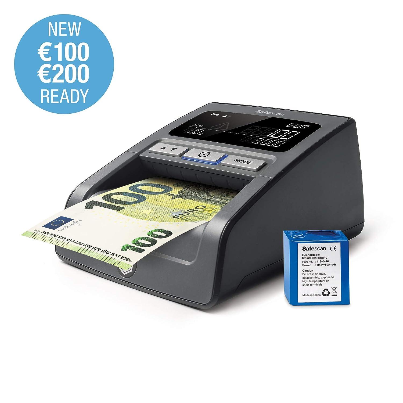 Safescan 155-SX - Detector de billetes falsos con batería recargable incluido: Amazon.es: Oficina y papelería