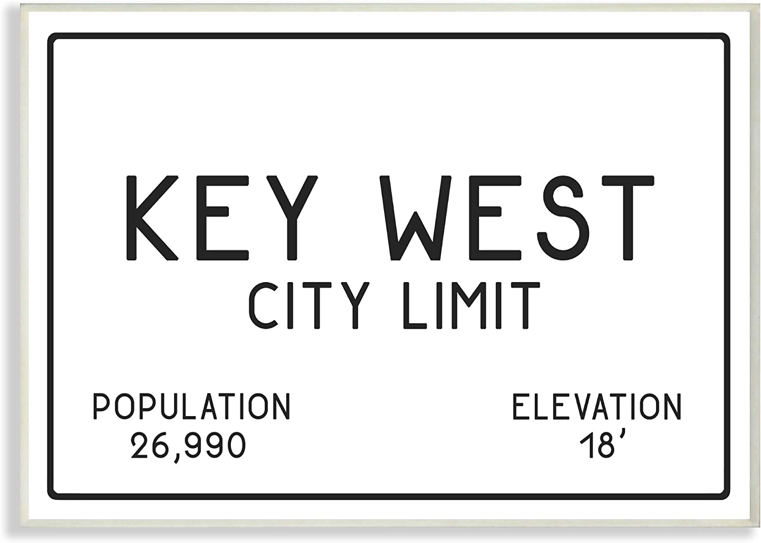 Stupell Industries Key West City Limit Oversized Wall Plaque Art, Proudly Made in USA