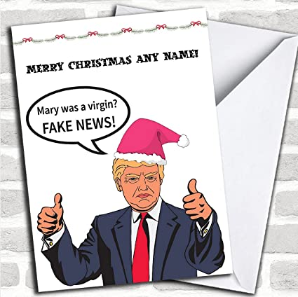 Amazon Com Funny Donald Trump Fake News Personalized Christmas