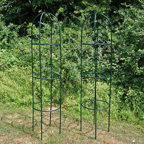 Set von 2Kingfisher schwarz Stahl Garten Obelisk (1,9m)
