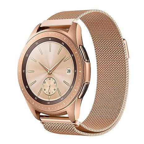 ProCase Correa de Reemplazo para Galaxy Watch (42mm), Pulsera Milanesa de Acero Inoxidable