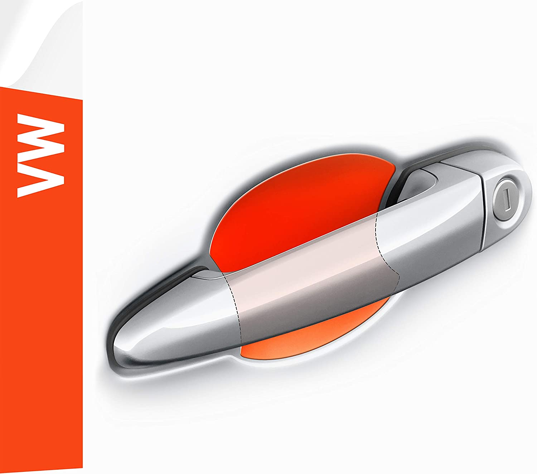 Luxshield Auto Türgriff Schutzfolie Griffmulde Für Caddy 4 Iv Sa I 2015 2021 Kratzschutz Lackschutzfolie Transparent Glänzend Auto