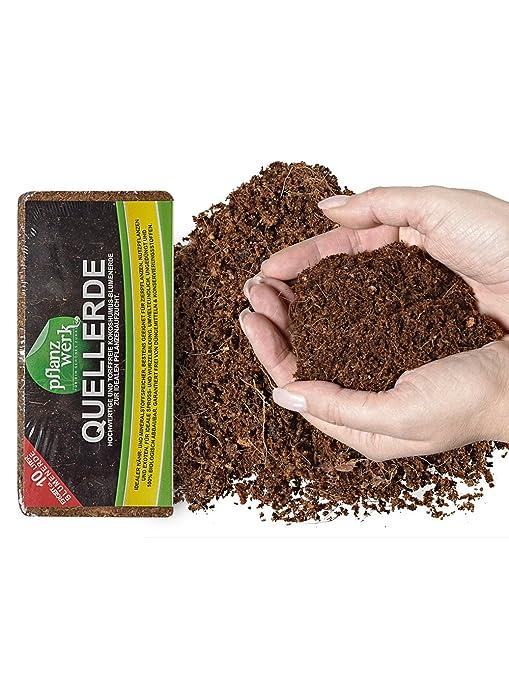 PFLANZWERK® Macetero Tierra Mantillo Tierra para macetas 120 Litro *100% ORGÁNICO* *