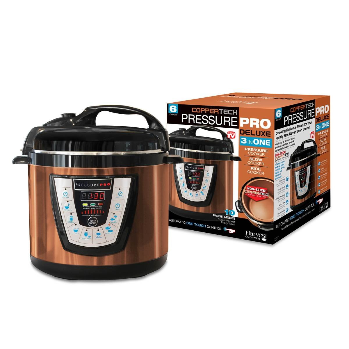 As Seen On TV Copper Tech Pressure Pro Deluxe Pressure Cooker