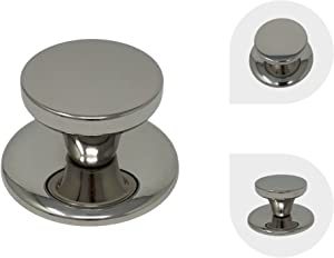 Melzon Cookware Universal Replacement Lid Knob – Stainless Steel, Rust Free Kitchen Pot Lid Handle, Gloss Finish