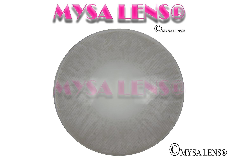 4e6472e8cc6080 MYSA LENS® Lentilles De Contact De Couleur Fantaisie Crazy Lens Cosplay  Yeux Gris Perle I-110   Pearl Grey 3Tons + Avizor Solution Multifonctions  Pour ...
