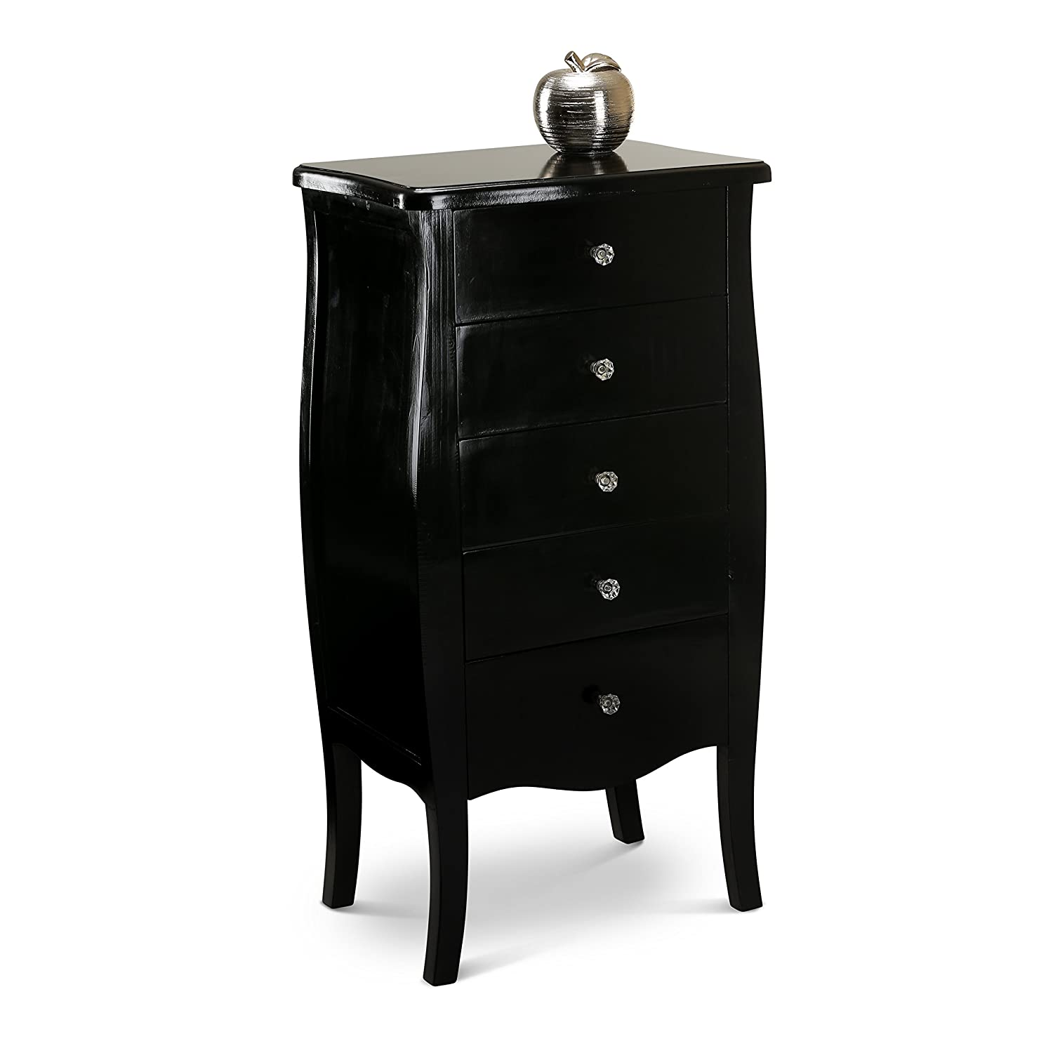 Black shabby chic furniture - Black Shabby Chic Console Side Table French Bedroom Hallway 2 3 5 Chest Drawers 5 Drawers Tallboy Amazon Co Uk Kitchen Home