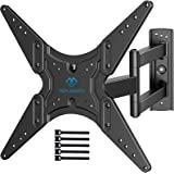 PERLESMITH TV Wall Mount for Most 26-55 Inch Flat Curved TVs with Swivels, Tilts & Extends 19.5 Inch - Wall Mount TV Bracket