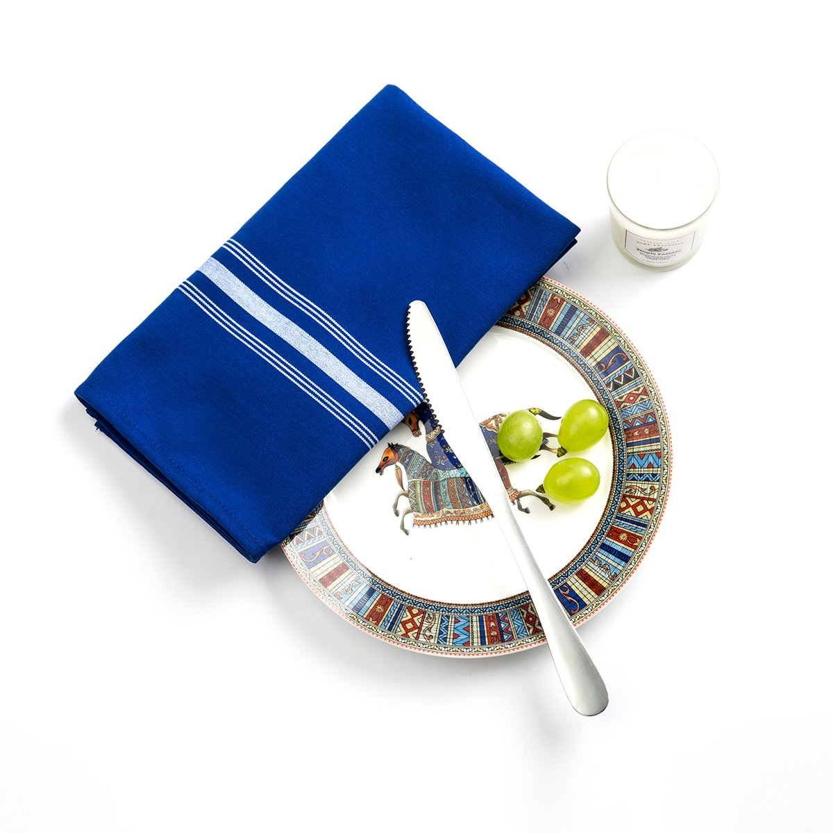 Beely Cloth Dinner Napkins - Set of 6 Pieces (18 x 22 inches),Five-Star Premium Dinner Napkins,Soft and Durable,Perfect for Parties,Weddings,Cocktail, Birthday or Everyday Use (Royal Blue)