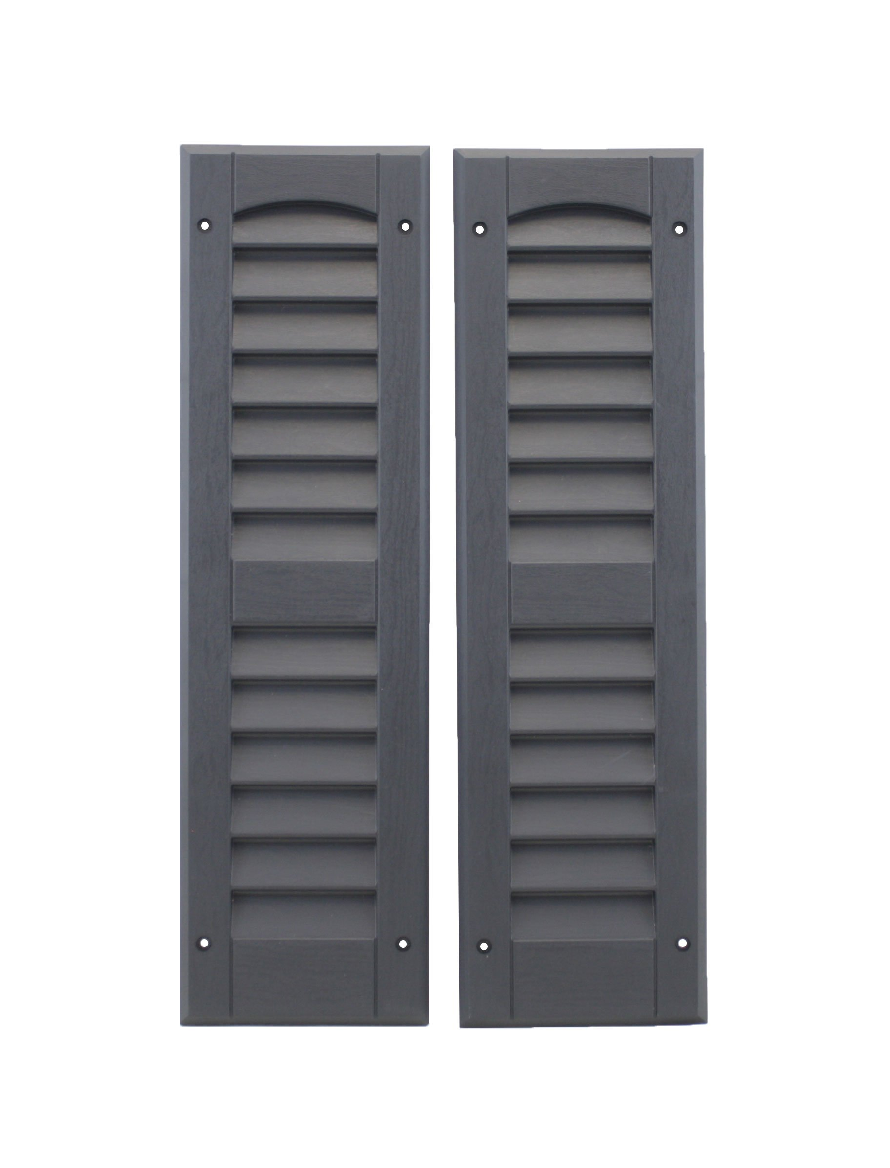 """Louvered Shed Shutter or Playhouse Shutter Black 6"""" X 21"""" Sold by The Pair"""